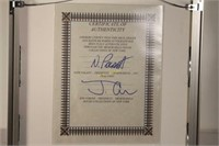 Autographed Jagger and Richards Tour 1981