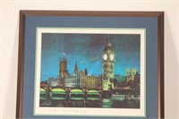Framed Big Ben and Houses of Parliament by Night