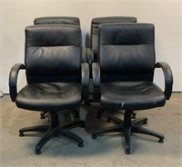 (4) Office Stationary Chairs
