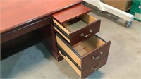 7 Drawer Wood Desk