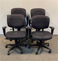 (4) Haworth Rolling Office Chairs