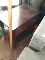 2 end tables, 24 x 14 x 24, contents not included