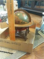 Wood desk globe