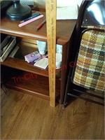 Wood shelf, contents not included