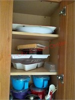 Contents of kitchen cabinet