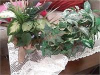 Pitchers, decor, fake plants