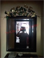 Hall mirror, approx 34 x 28