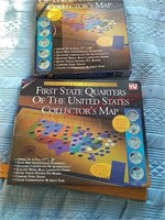2 state quarter coin maps