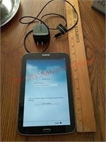 Samsung galaxy tablet, turns on, has charger