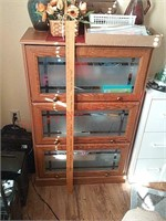 Particle board lawyer bookcase, needs top door