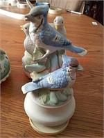 4 bird music boxes