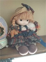Doll & 3 music boxes
