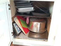 Contents of upstairs kitchen lower cabinets