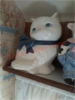 Cow & cat cookie jars