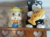 2 cat cookie jars