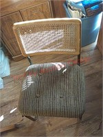 Wood drop leaf table w/ 2 chairs in upstairs