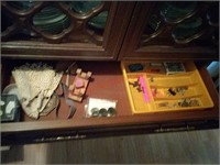 Metal china hutch, china not included, 72 t x 36