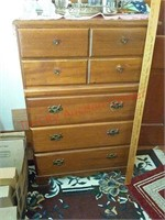 Dresser & contents of drawers, 42 t x 27 w x 16 d