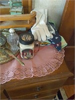 Contents on top of dresser
