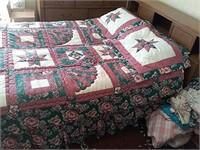 Full size headboard, frame, mattress, matches