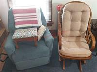 Rocker, rocker recliner, stool