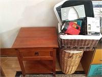 Baskets, table, etc