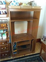Entertainment center, contents not included