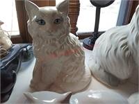 4 ceramic cats