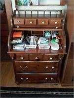 Secretary desk & contents