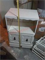 Wood cabinet, in basement