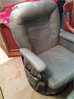 Rocker chair w/footstool, in basement