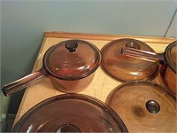 Vintage corning vision ware dishes