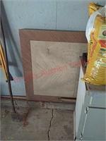 Stepstool, potting soil, etc in garage