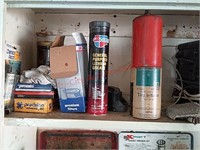 Contents of garage cabinet