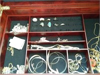 Jewelry boxes & jewelry, some sterling