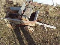 Wood wagon decor