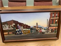 Bowling Green Oil Painting