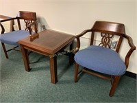 Two Chairs and End Table