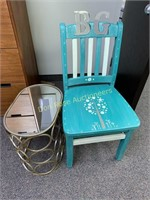 Chair and Small Table