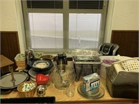 Kitchen Items and Cart