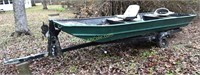 14' Jon Boat with Trailer