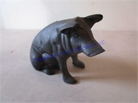 CAST IRON HOG BANK