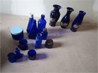 COBALT BLUE JARS
