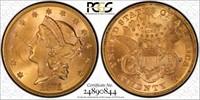 1871 $20 Gold PCGS 63+ CAC