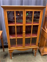 Glass Front Display Cabinet 35x14x56
