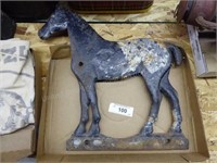 """Cast iron horse (approx. 17"""")"""