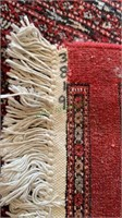 Large living room carpet - burgundy red, cream and