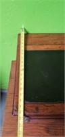 Antique Oak Tabletop Spool Cabinet