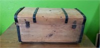 Antique Wooden Childs Trunk
