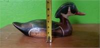 Tom Taber Carved Wood Duck Decoy #1